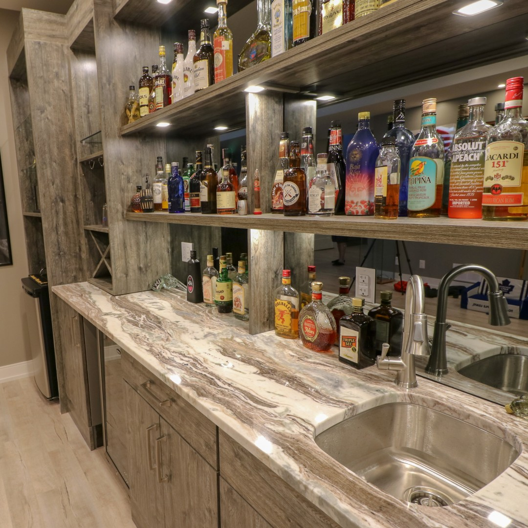 Canaan Cabinetry bar renovation