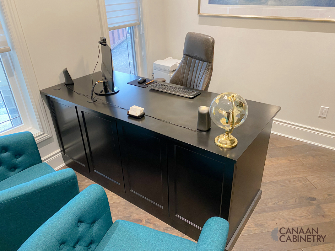 Home office desk and wall unit 6