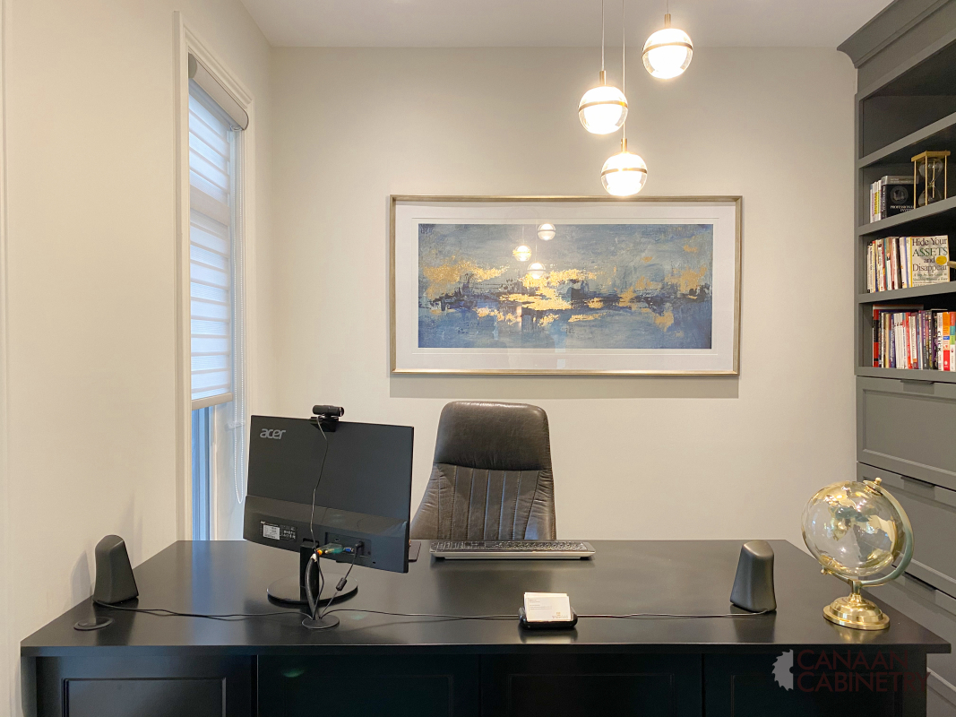 Home office desk and wall unit 7
