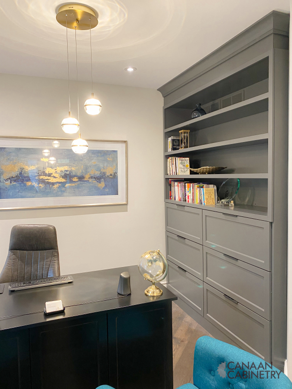 Home office desk and wall unit 8