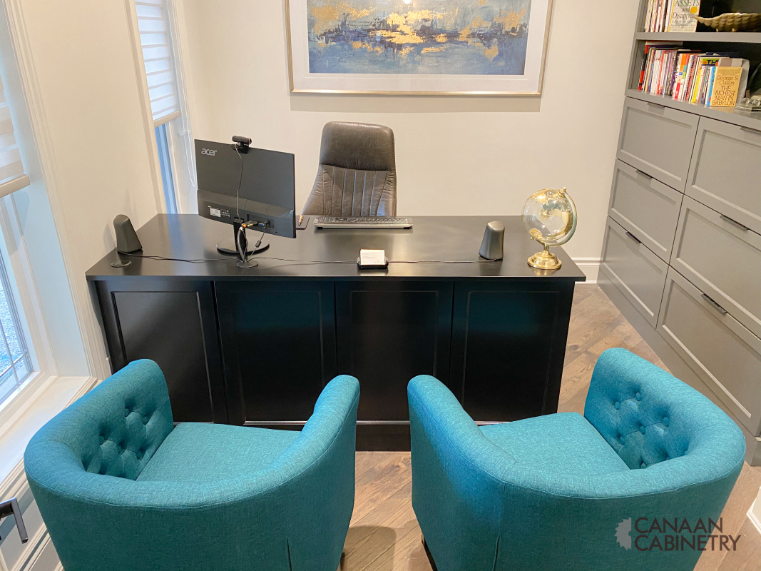 Home office desk and wall unit 9