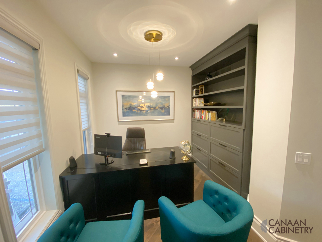 Home office desk and wall unit 10