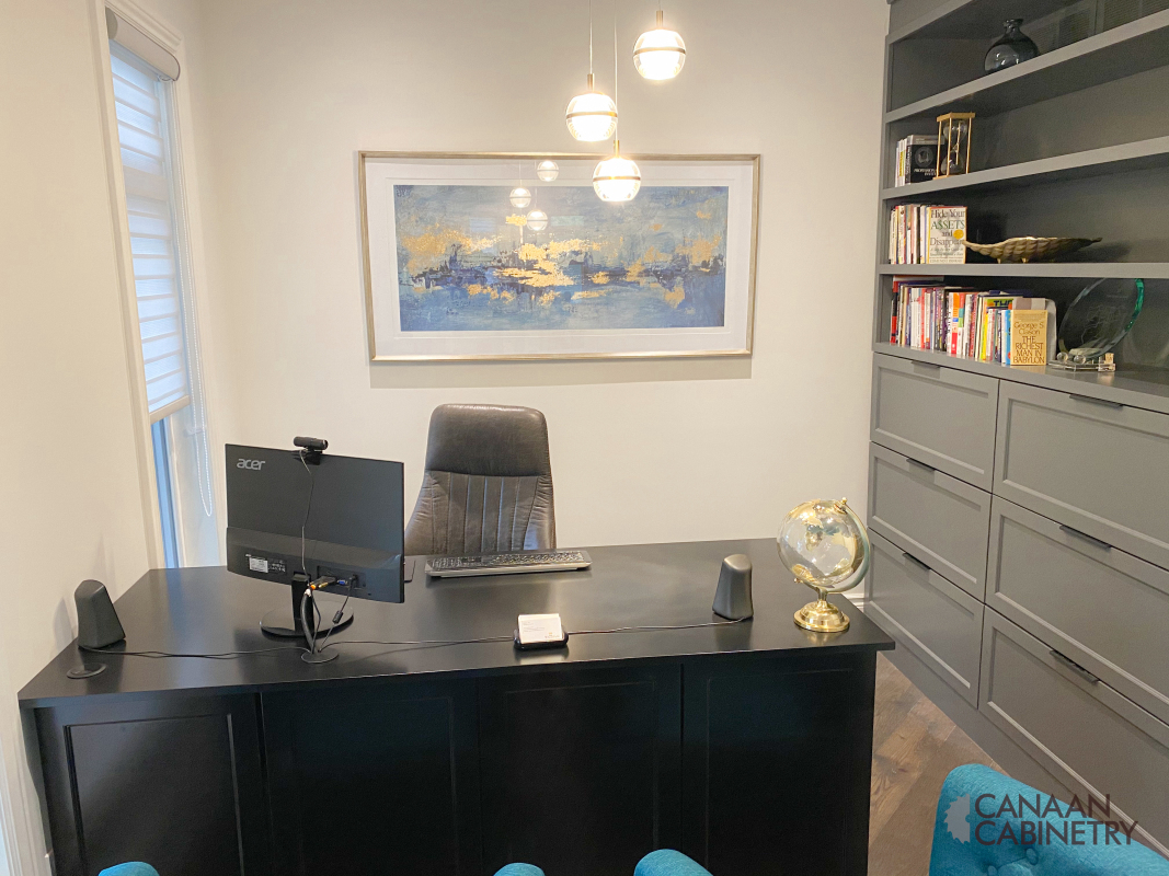 Home office desk and wall unit 12