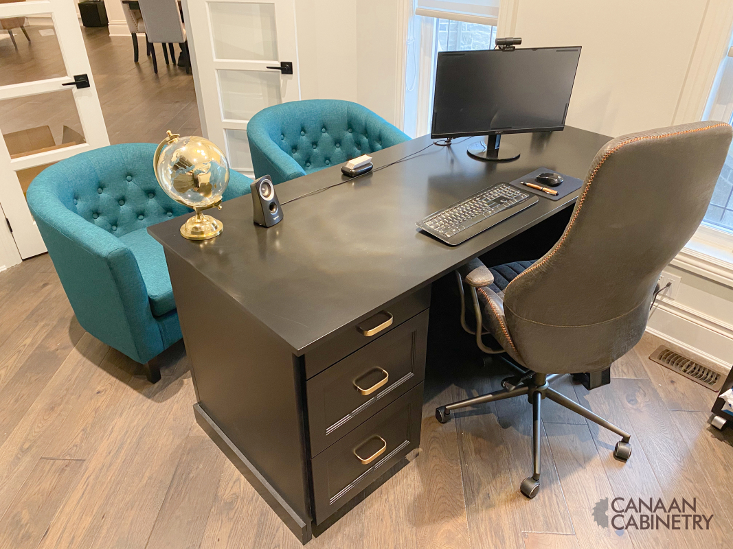 Home office desk and wall unit 13